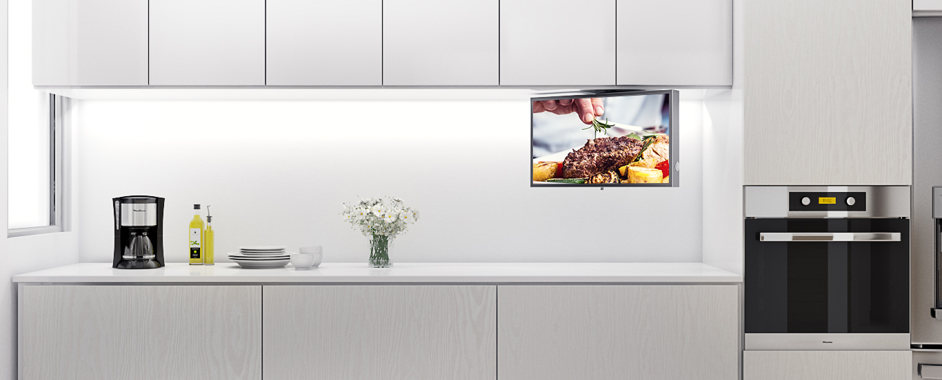Watch your favorite shows with this all-new kitchen TV.