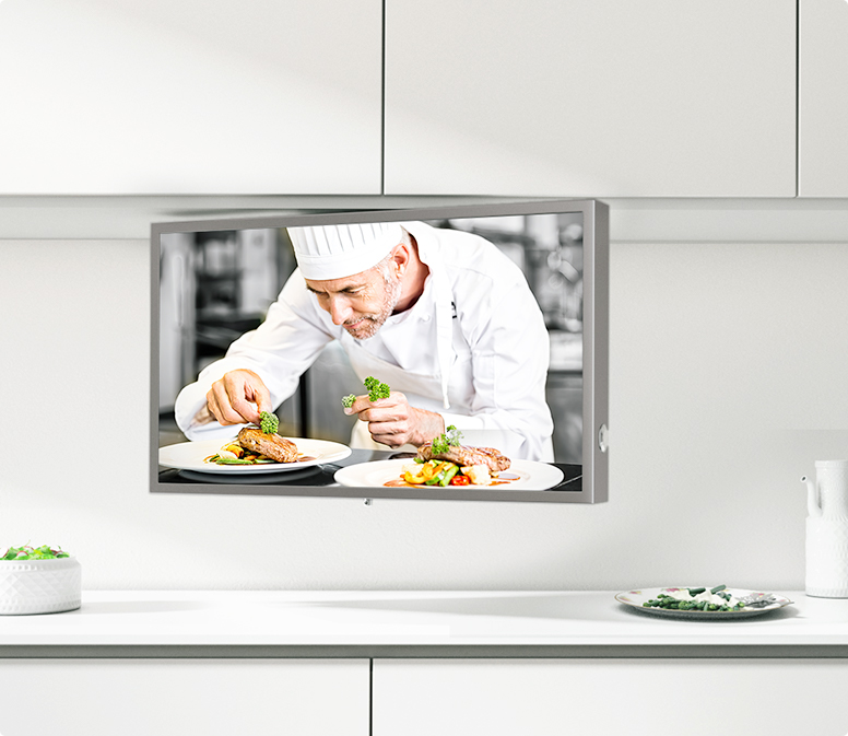 This easy to install kitchen TV is now available for you.