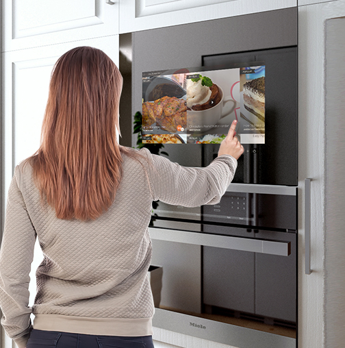 Control your kitchen TV with Touchscreen.